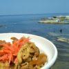 今年は海でのお昼は…