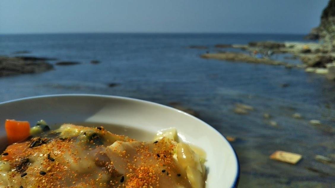 今年の海は中華丼でエネルギー補給!